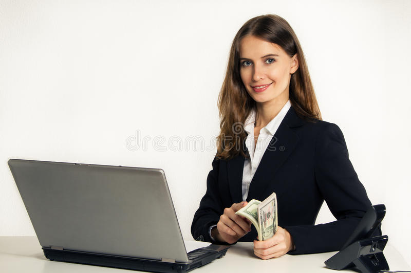 Successful and beautiful manager stock image