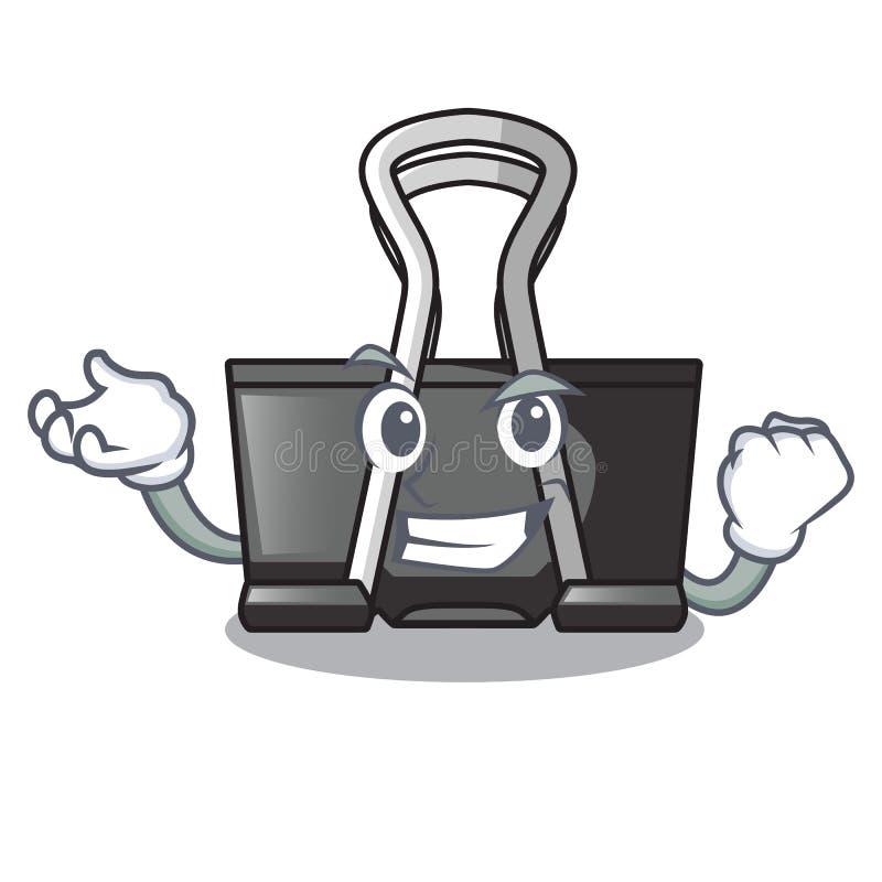 Successful binder clip isolated on the cartoon. Vector illustration stock illustration