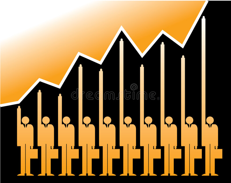 Successful business graph royalty free illustration
