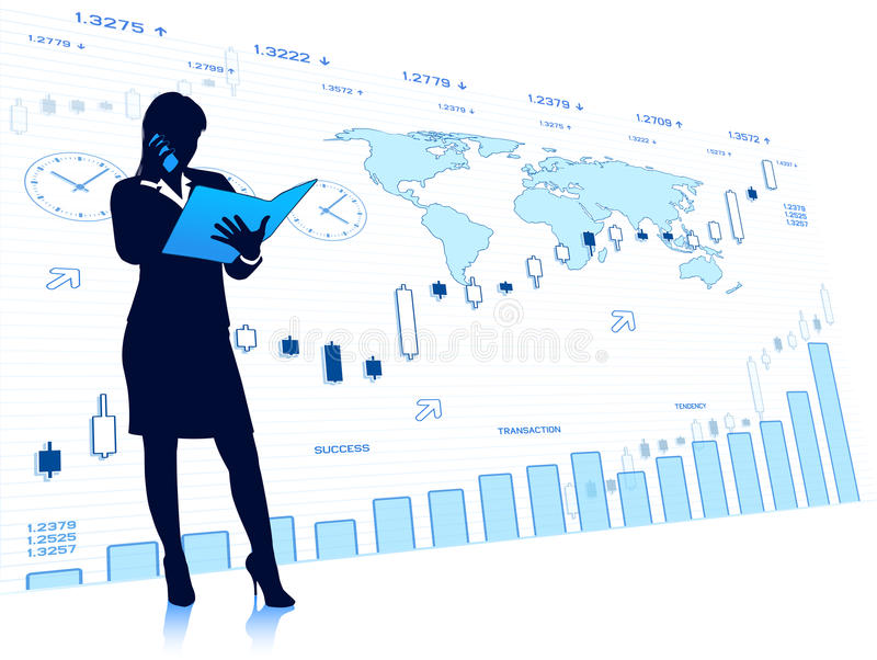 Successful business lady stock images