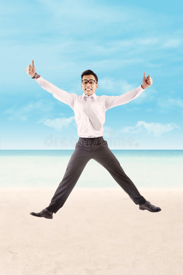 Download Successful Business Man At The Beach Stock Image - Image: 26813879