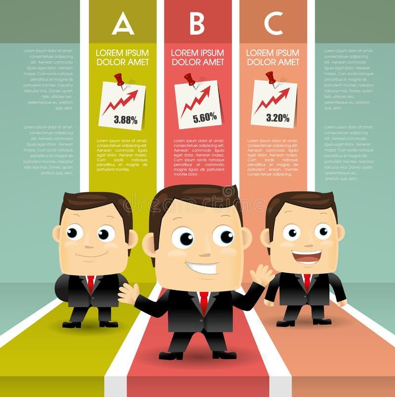Successful business man vector illustration