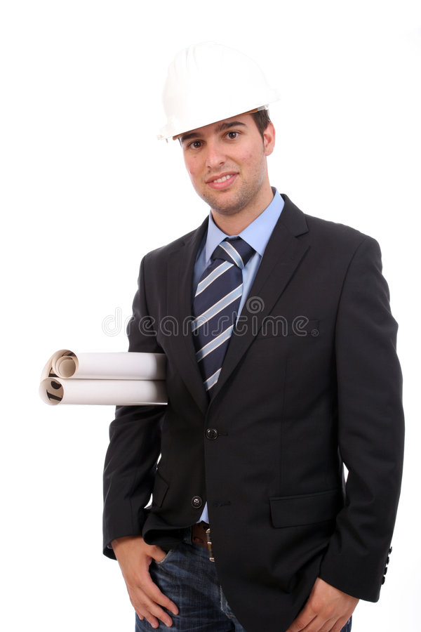Successful business man with new project stock photo