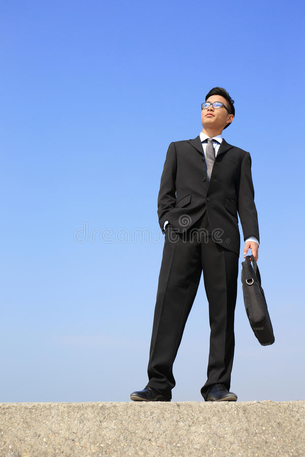 Successful business man stock image