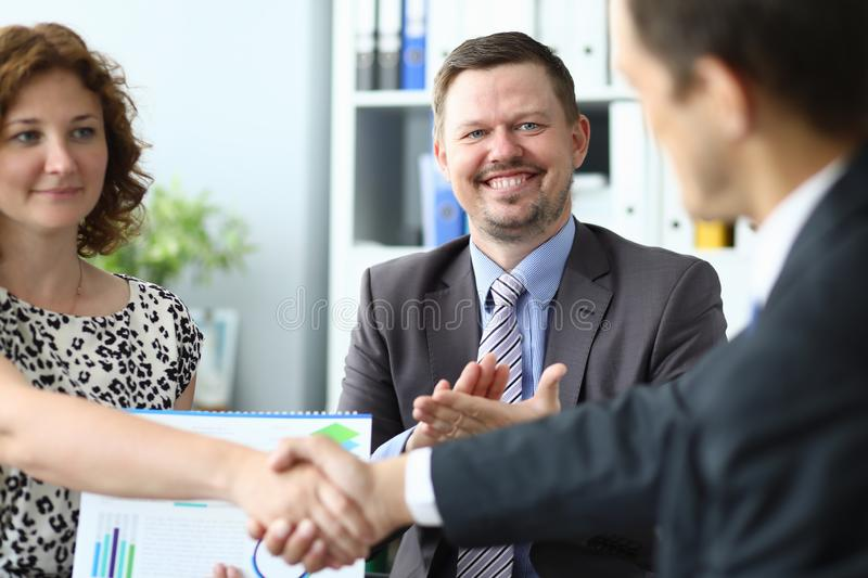 Successful business meeting stock photography