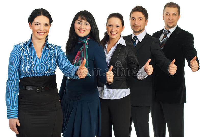 Download Successful Business People Gives Thumbs Stock Image - Image: 18048301