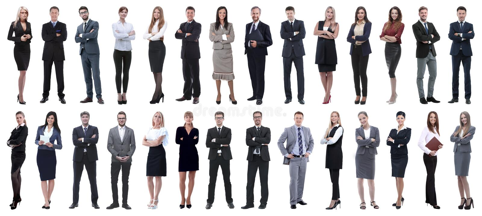 Successful business people isolated on white background royalty free stock photos