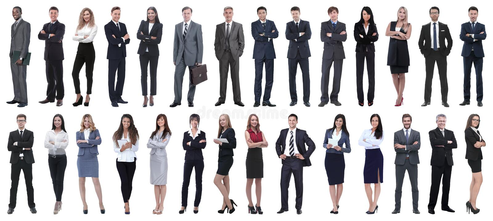 Successful business people isolated on white background royalty free stock image