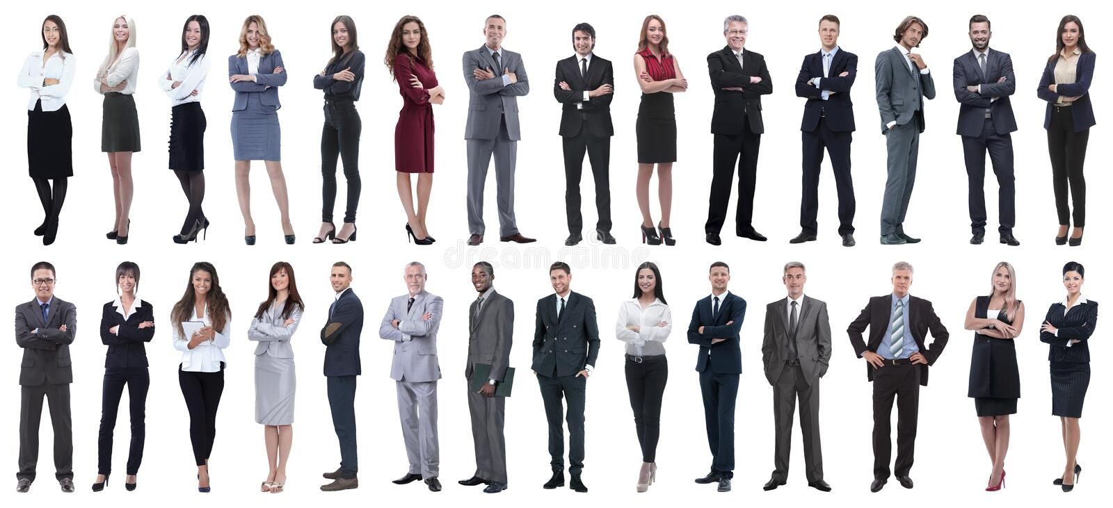Successful business people isolated on white background royalty free stock images