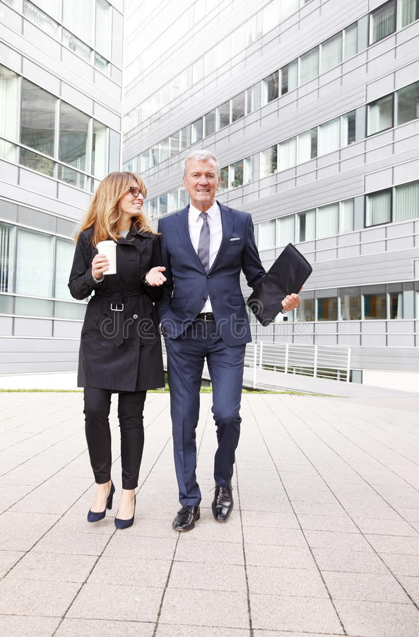 Successful business people portait royalty free stock photo