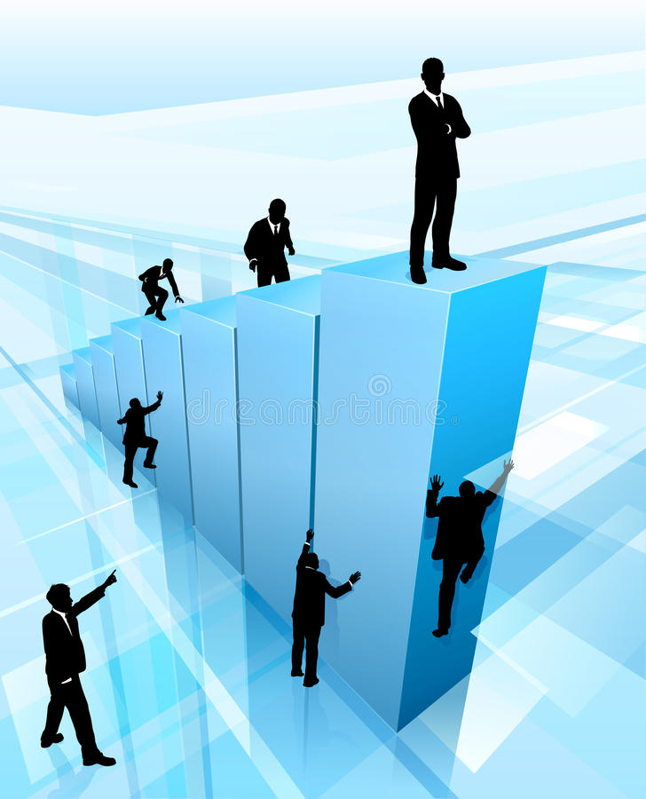 Successful Business Person Competing Concept stock illustration