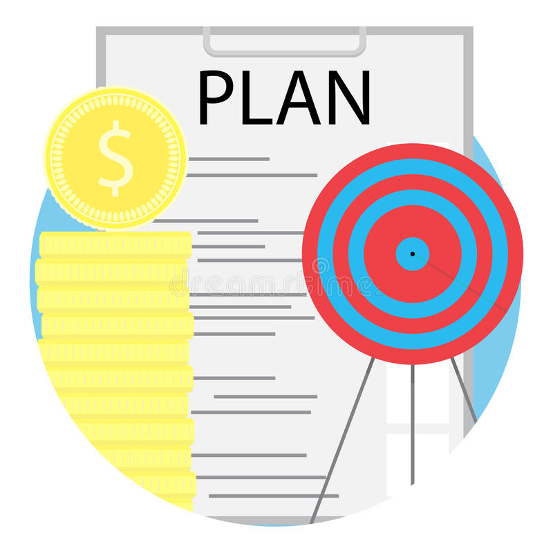 Successful business plan royalty free illustration
