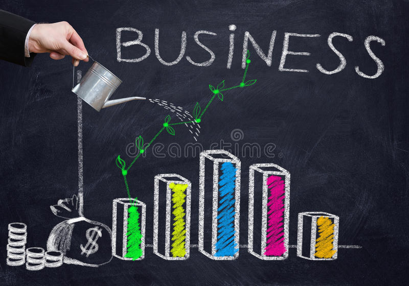 Successful business strategy stock photos