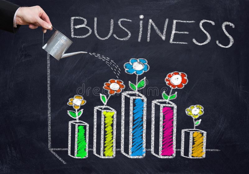 Successful business strategy stock images