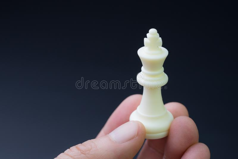 Successful business strategy, leadership or decision concept, ha stock image