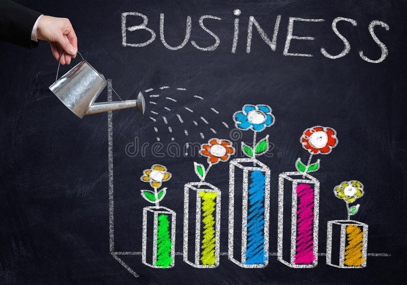 Successful business strategy stock image