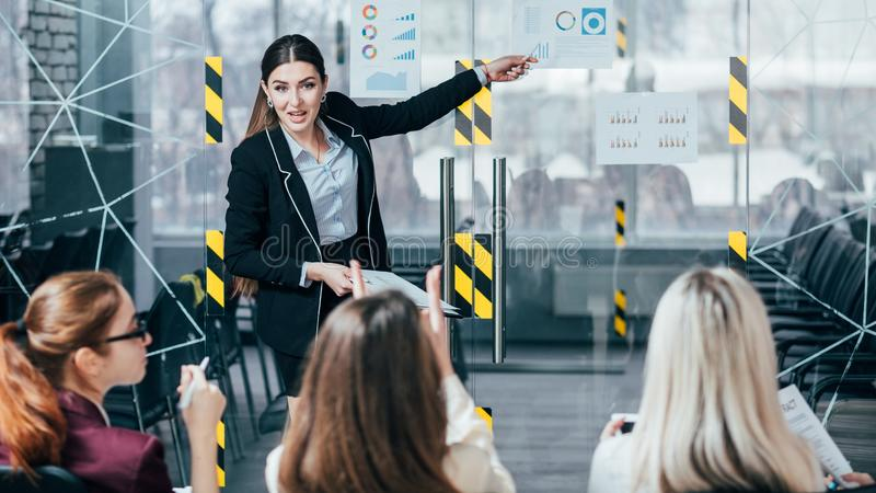 Successful business strategy presentation revenue stock images