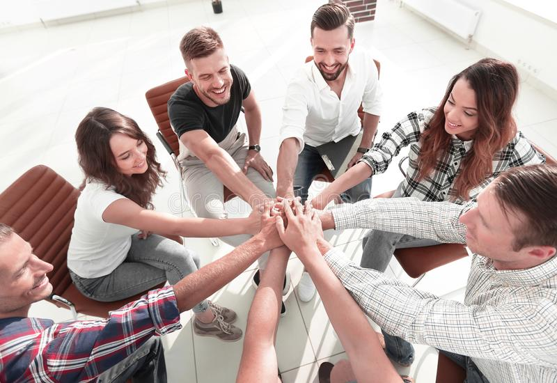 Successful business team.the concept of unity stock image