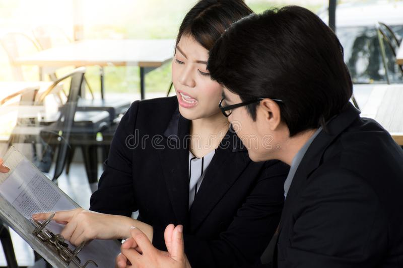 Successful business team or costumer and client in a meeting stock photos