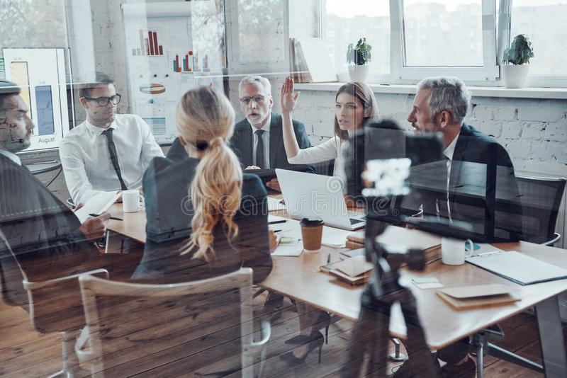 Successful business team stock photography