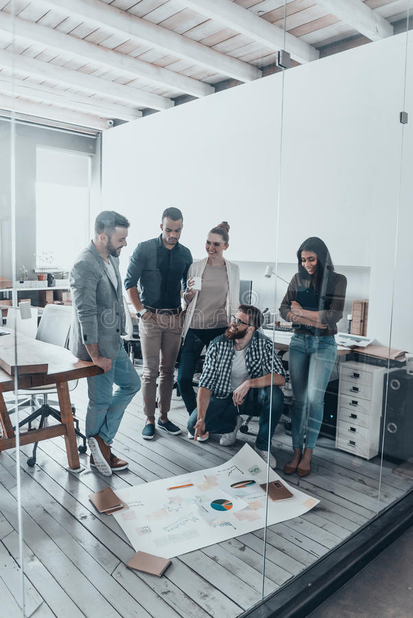 Successful business team. stock photography