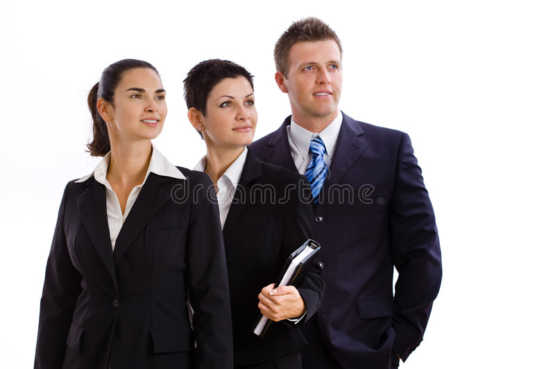 Successful business team isolated stock photos
