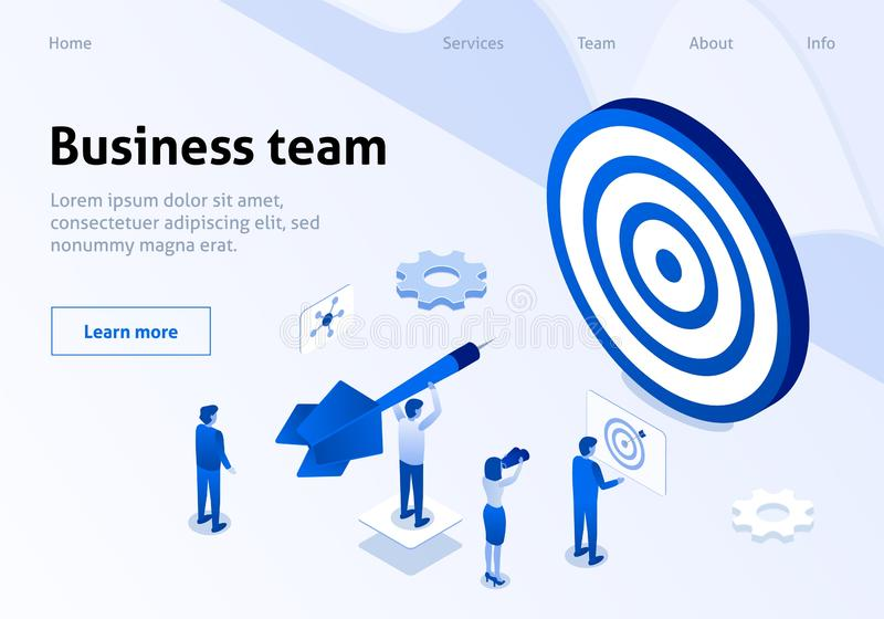 Successful Business Team Management Service Banner vector illustration