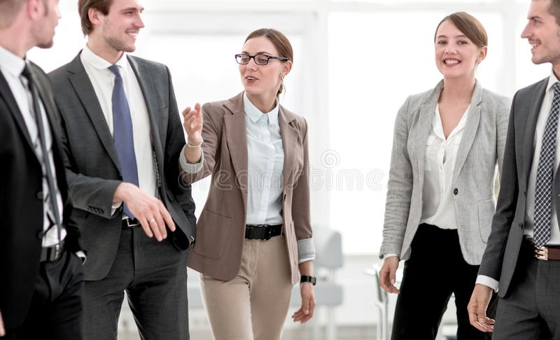 Successful business team in the office stock images