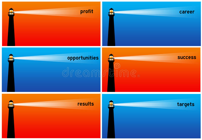Successful business vector illustration