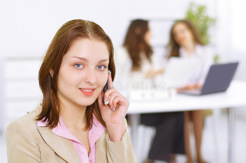 Download Successful business woman stock image. Image of phone - 21081005