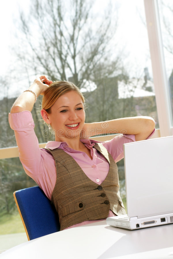Download Successful business woman stock image. Image of laptop - 4955149