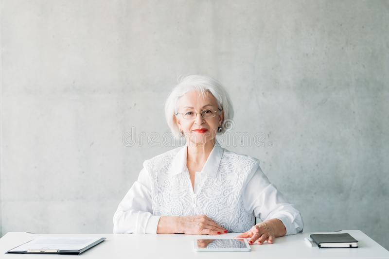 Successful business woman confident leader royalty free stock images