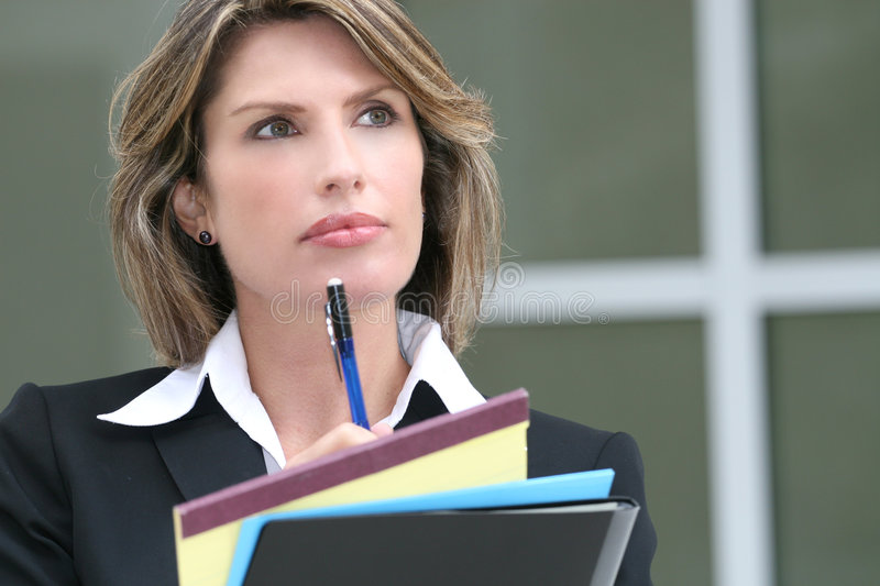 Download Successful Business Woman Planning Budget Stock Photo - Image: 6614024