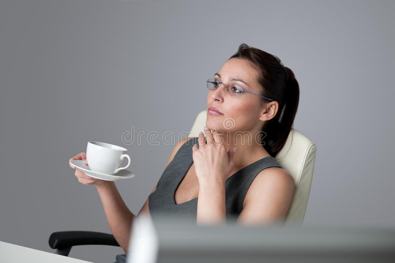 Download Successful Business Woman Think At Office Stock Image - Image of adult, successful: 13450927