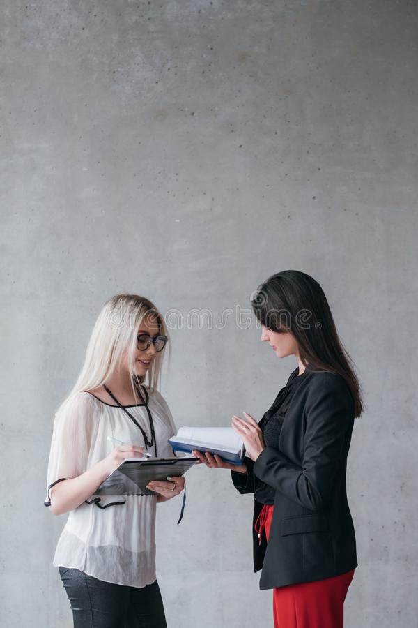 Successful business women professional career stock image