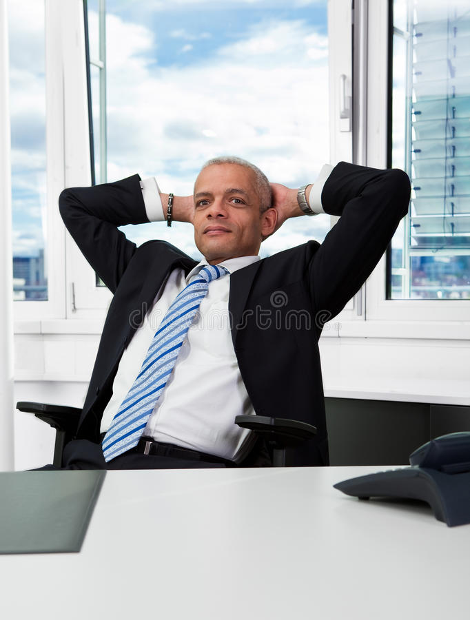 Successful businessman royalty free stock image