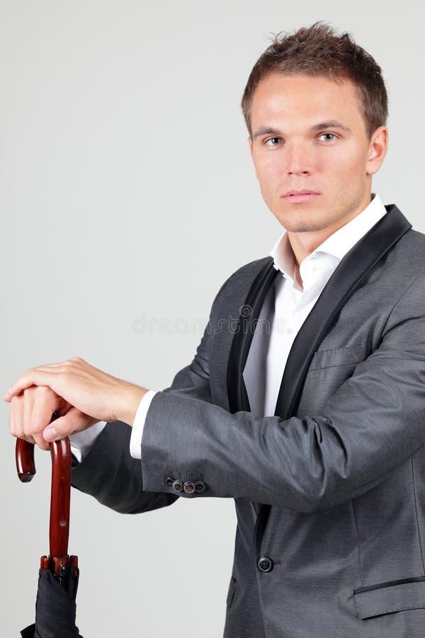 Successful businessman in elegant suit stock photography