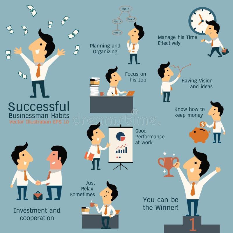 Successful Businessman Habits Stock Vector - Image: 47854741