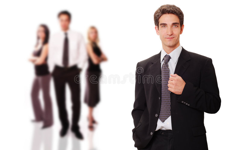 Successful Businessman With His Team Stock Images