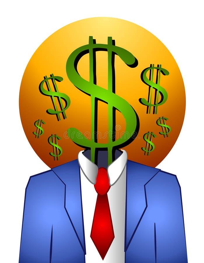 Successful Businessman Money royalty free illustration
