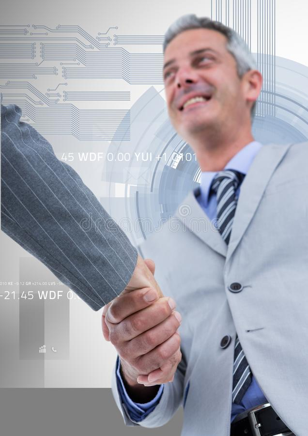 Successful businessman shaking hands with his partner royalty free stock images