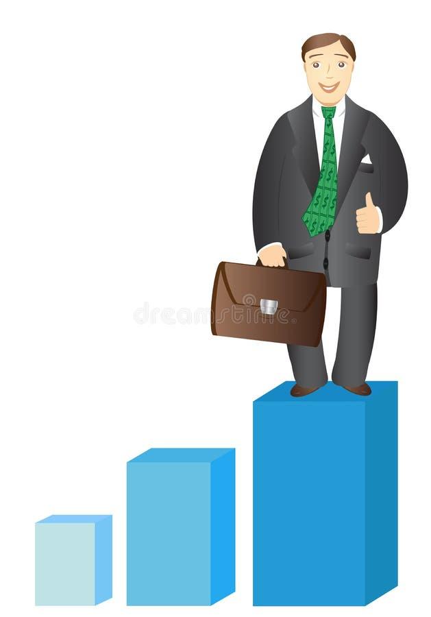 Successful Businessman With Stock Portfolio Stock Vector ...