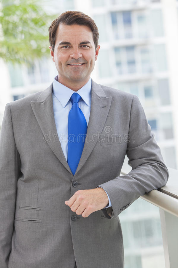 Download Successful Businessman In Suit On Rooftop Stock Image - Image of suit, successful: 27630371