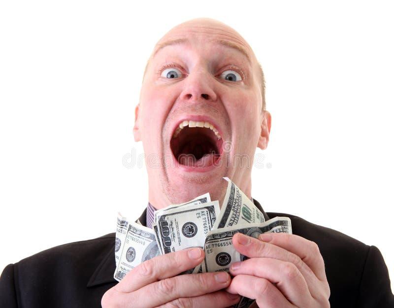 Successful businessman winner dollars royalty free stock images