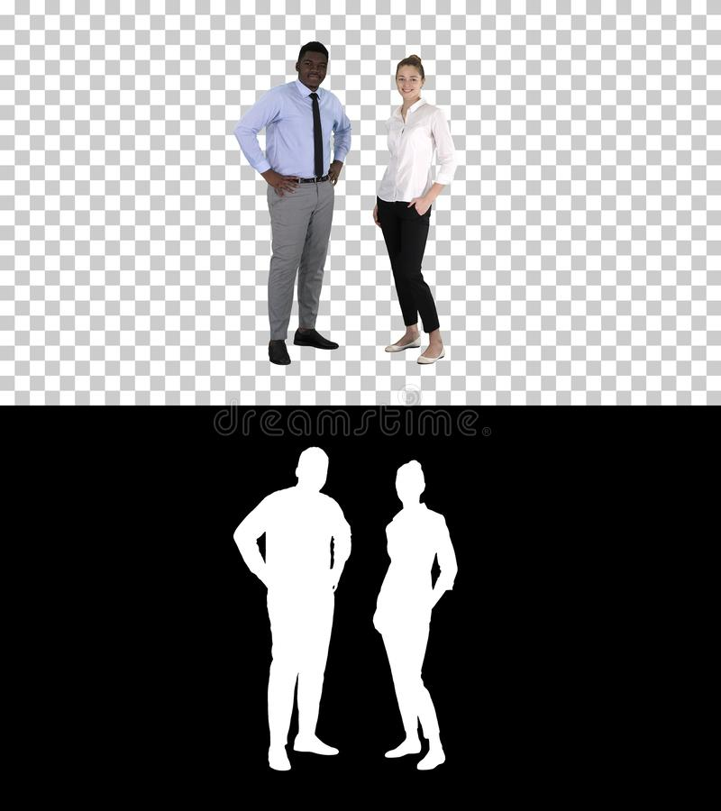 Successful businesspeople, business team posing, Alpha Channel royalty free stock images