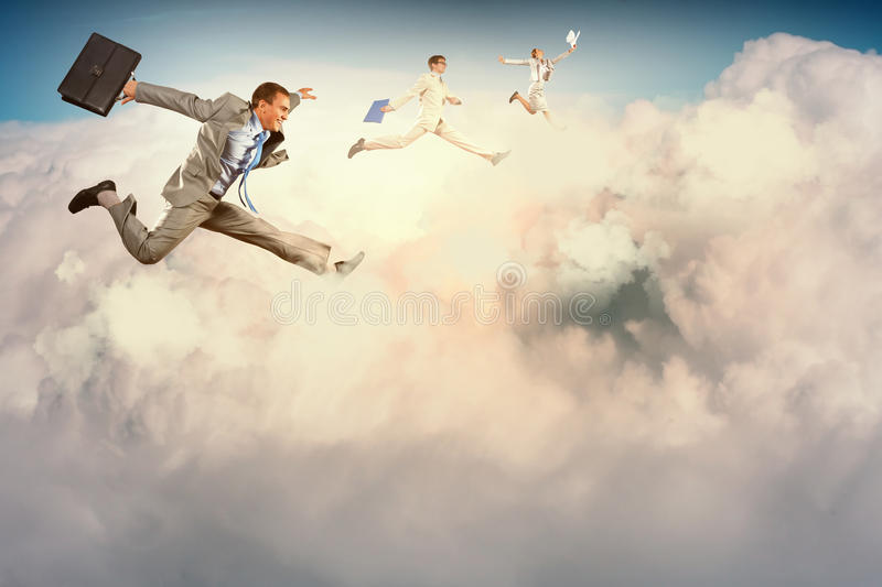 Successful businesspeople stock images