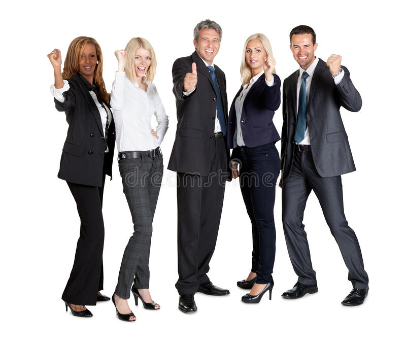 Download Successful Businesspeople Showing Thumbs Up Stock Image - Image: 22287763