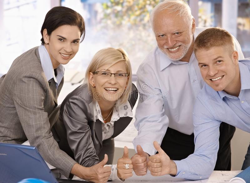 Download Successful Businessteam Giving Thumbs Up Stock Photo - Image: 18489708
