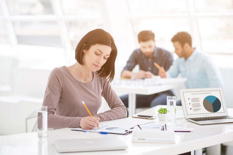 download successful businesswoman and business team at office meeting stock image of casual office meeting ideas g45 office