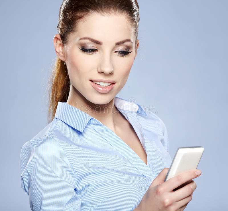 Download Successful Businesswoman With Cell Phone. Stock Image - Image: 28530429